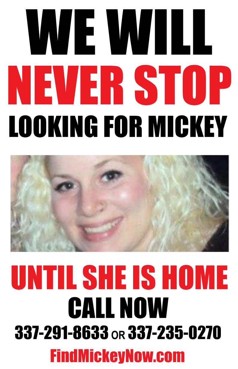 We Will Never Stop Looking For Mickey Shunick Until She Is Home